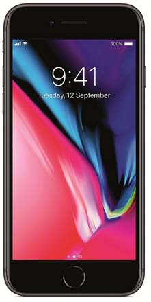 iPhone 8 Gray front screen