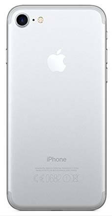 iPhone 7 silver back