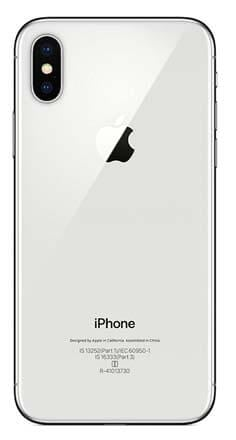 iPhone X silver back