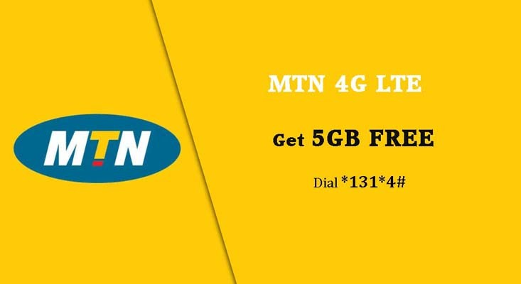 MTN images - Get 5GB free 4g data