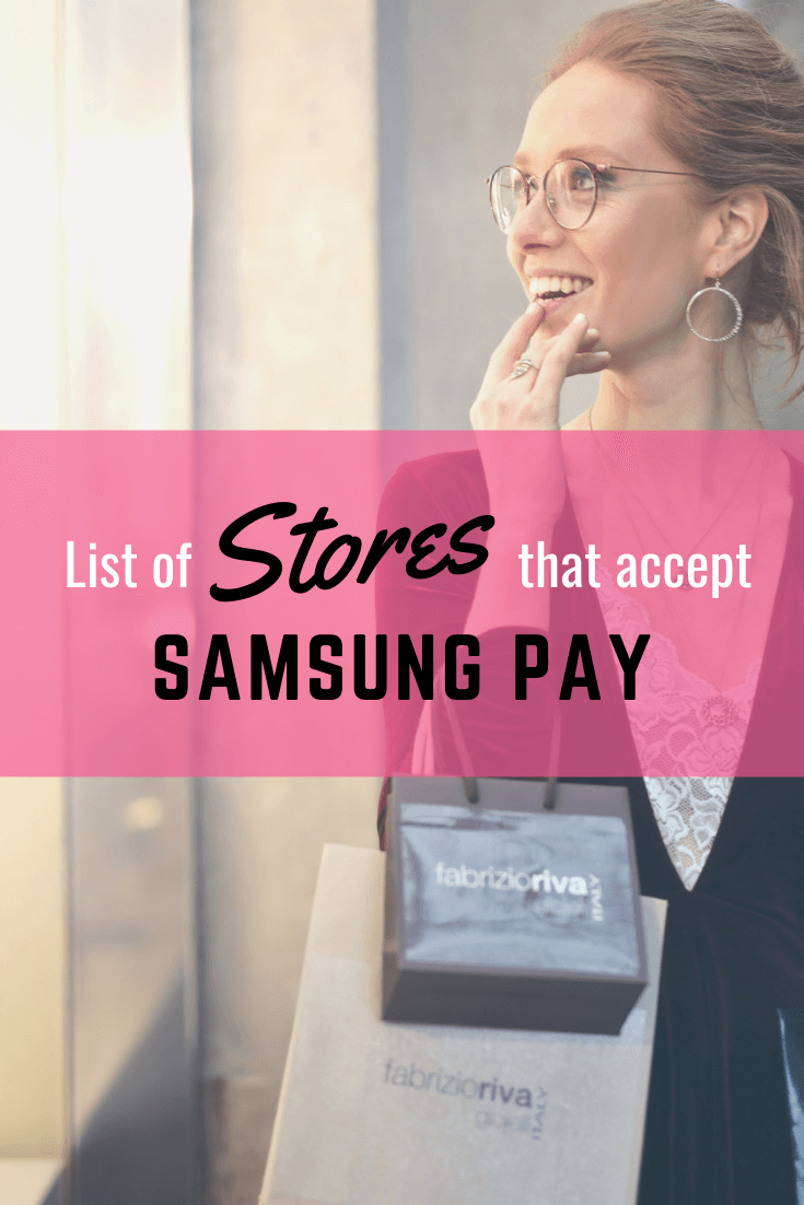 list of stores for samsung pay