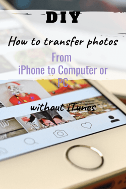 transfer photos from iphone to computer or pc