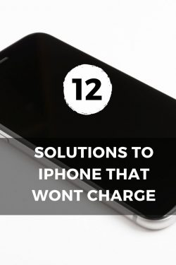 solutions to iphone that wont charge