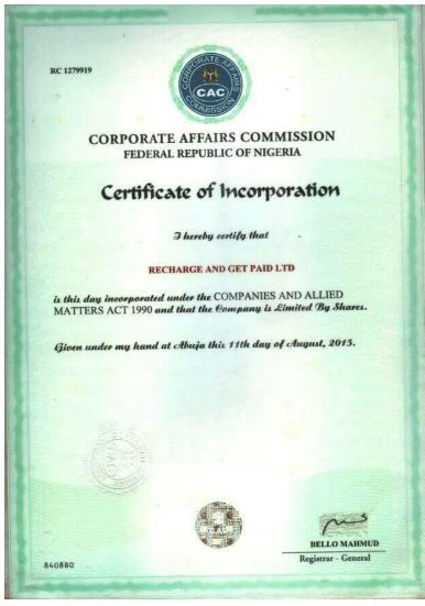 Recharge And Get Paid CAC document